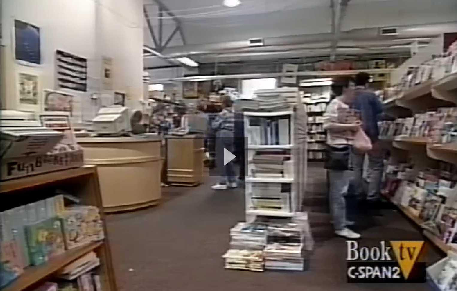 Screen Shot From A 1998 Cspan Program About Hungry Mind